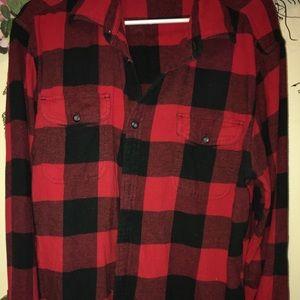💜Sonoma 100% Cotton Size Large  Flannel Shirt!💋